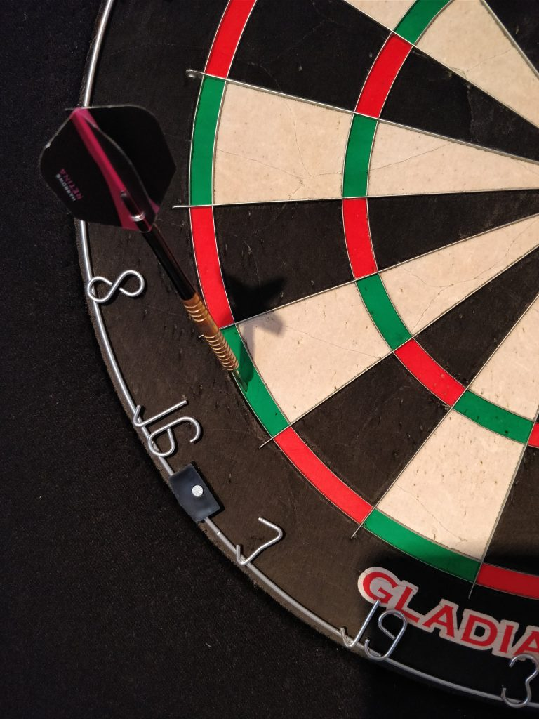 Treffer in Doppel 16 Dartboard