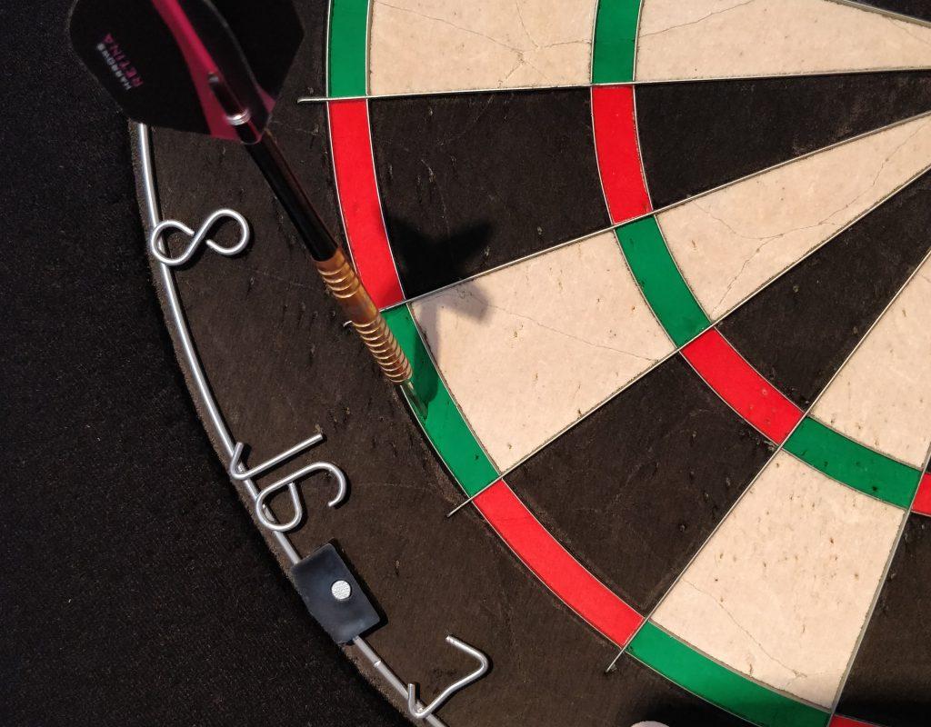 Treffer in Doppel 16 Dartboard